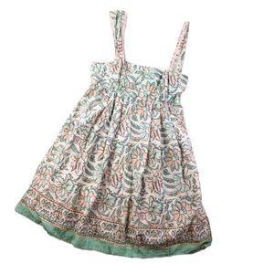 Free People Floral Print Babydoll Mini Dress L340